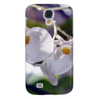 Flores tropicales blancas delicadas