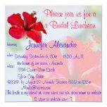 Flores tropicales bonitas del alumerzo nupcial invitación 13,3 cm x 13,3cm
