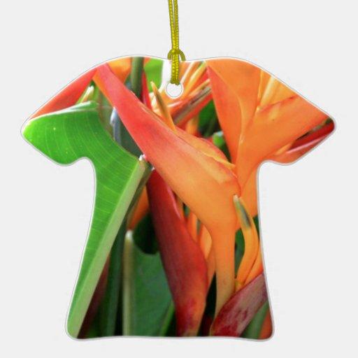 Flores tropicales brillantes de Heliconia Adorno De Reyes