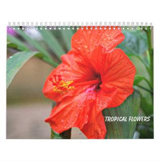 Flores tropicales calendario