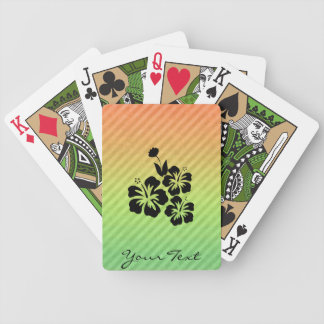 Flores tropicales baraja cartas de poker