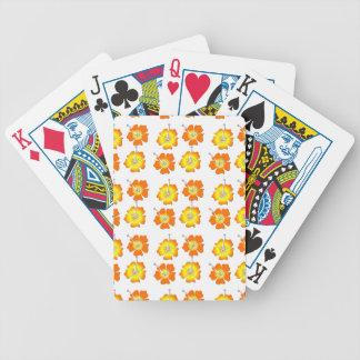 Flores tropicales barajas de cartas