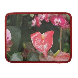 Flores tropicales de la orquídea funda para macbooks