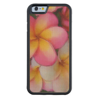 Flores tropicales de la playa del Plumeria del Funda De iPhone 6 Bumper Arce