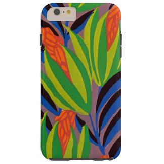 Flores tropicales del art déco de Seguy Funda De iPhone 6 Plus Tough