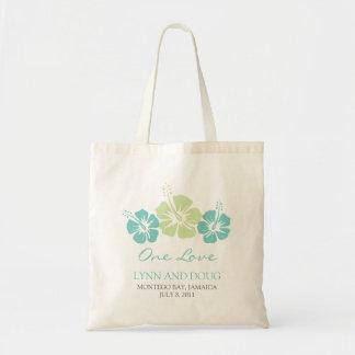 Flores tropicales del hibisco bolsa tela barata