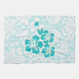 Flores tropicales del trullo toallas de mano