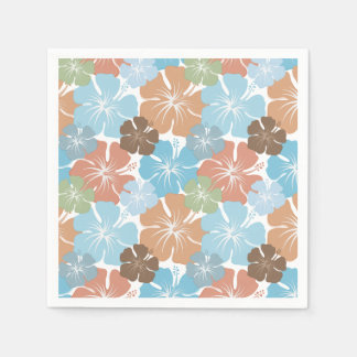Flores tropicales hawaianas del hibisco servilletas de papel
