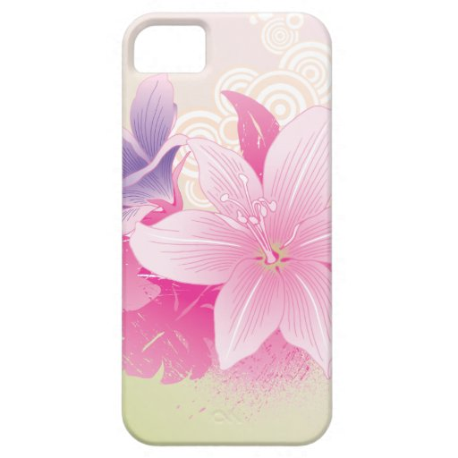 Flores tropicales iPhone 5 fundas