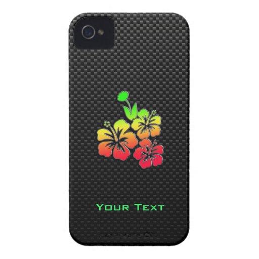 Flores tropicales lisas iPhone 4 Case-Mate carcasa