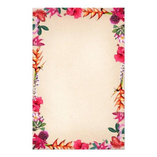 Flores tropicales papelería de diseño