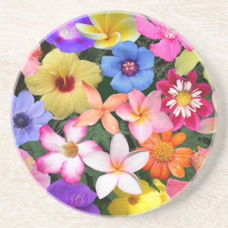 Flores tropicales posavaso para bebida