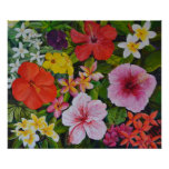 Flores tropicales poster