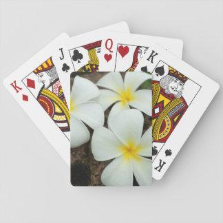 Flores tropicales preciosos en el South Pacific Cartas De Juego
