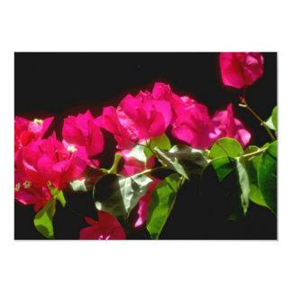 """Flores tropicales rosadas, flores de Ocho Rios Invitación 5"""" X 7"""""""