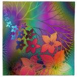 Flores tropicales servilleta