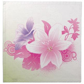 Flores tropicales servilletas imprimidas