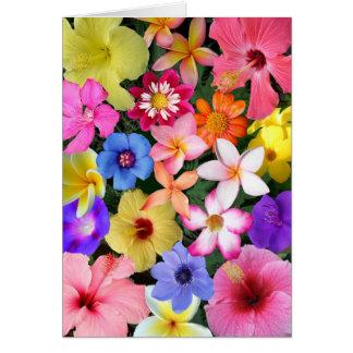 Flores tropicales tarjeta de felicitación