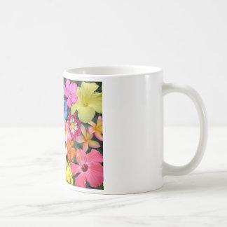 Flores tropicales taza