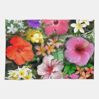 Flores tropicales toalla de mano