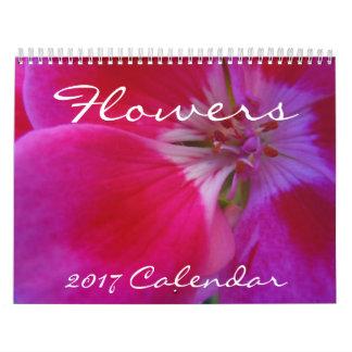 Flores - un calendario 2017