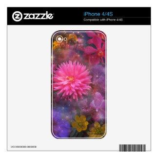 Flores - un ramo visual para la mamá calcomanías para iPhone 4S