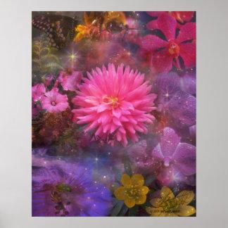 Flores - un ramo visual para la mamá póster
