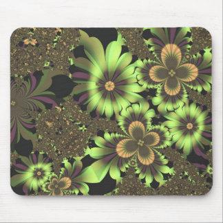 Flores verdes alfombrillas de ratones
