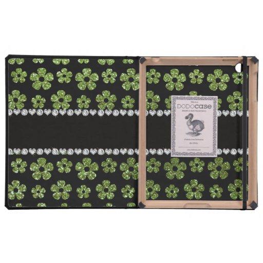 Flores verdes claras conocidas personalizadas del  iPad protector