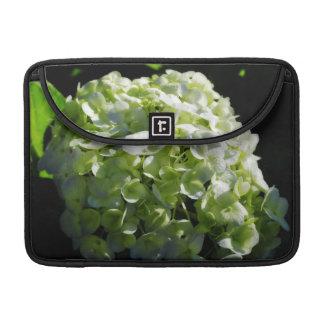 Flores verdes de los Hydrangeas Funda Macbook Pro