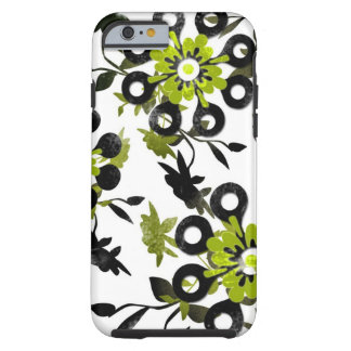 Flores verdes funda de iPhone 6 tough