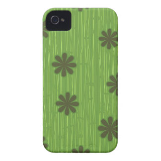 Flores verdes iPhone 4 Case-Mate carcasas