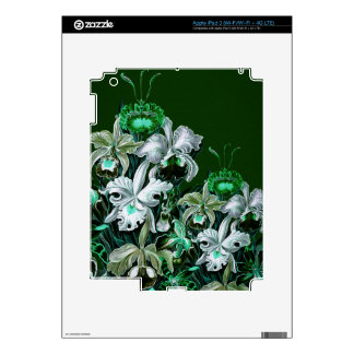 Flores verdes magníficas del vintage iPad 3 skins