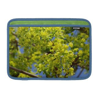 Flores verdes minúsculas fundas macbook air