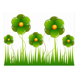 Flores verdes - modificadas para requisitos partic tarjeta postal