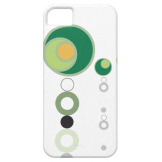 Flores verdes y anaranjados de la burbuja funda para iPhone SE/5/5s