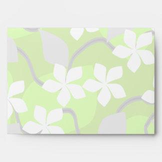 Flores verdes y blancas. Modelo floral
