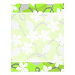Flores verdes y blancas. Modelo floral Tarjetas Publicitarias