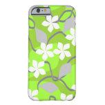Flores verdes y blancas. Modelo floral Funda De iPhone 6 Barely There