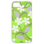 Flores verdes y blancas. Modelo floral iPhone 5 Case-Mate Fundas