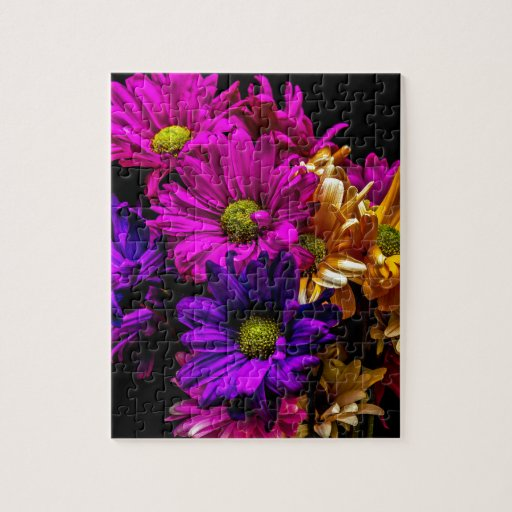 Flores vibrantes rompecabezas con fotos