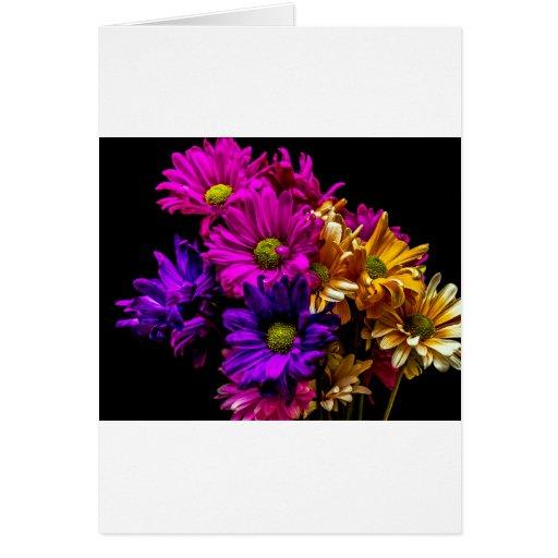 Flores vibrantes tarjetón