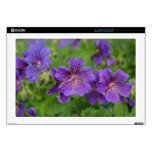 Flores violetas de Cranesbill Portátil Calcomanía