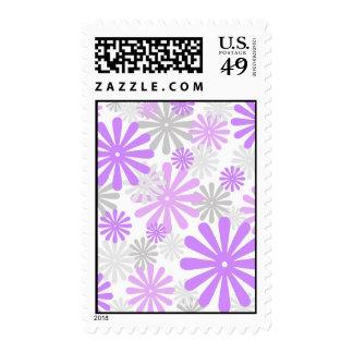 Flores violetas franqueo