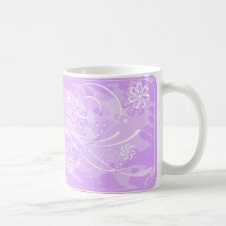 flores violetas tazas