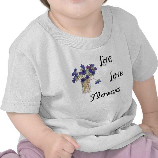 Flores vivas del amor camisetas