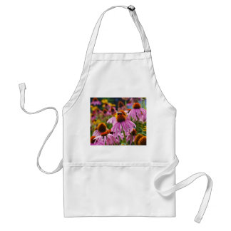 Flores y abeja del cono delantal