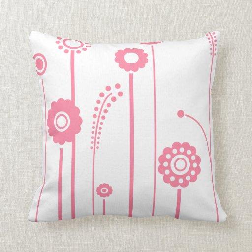 Flores y almohada rosadas de Mojo del americano de