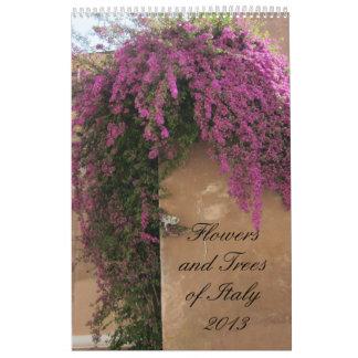 Flores y árboles de Italia 2013 Calendarios De Pared