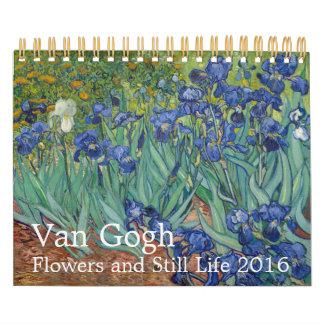 Flores y aún vida 2016 de Van Gogh pequeñas Calendarios